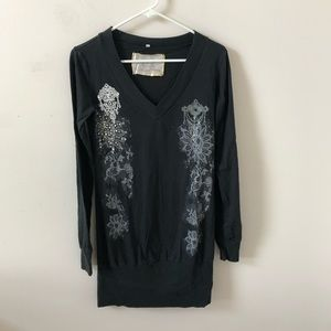For Love and Liberty Black Tunic Top- Size S